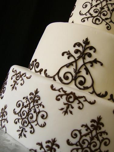 black white centerpiece Mints Design bridal dress vera wang