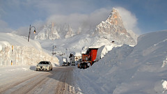 Rolle pass (Dolomites) - heavy snowfalls (ab.130722jvkz) Tags: italy trentino alps easternalps dolomites palagroup mountains snowfall winter