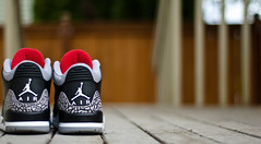 Black Cements. (Daniel.Lam) Tags: 3 black photography 50mm nikon bokeh background daniel air iii cement blurred jordan pack nikkor 18 grip countdown lam oof jumpman cdp opteka d40 daniellam daniellamphotography