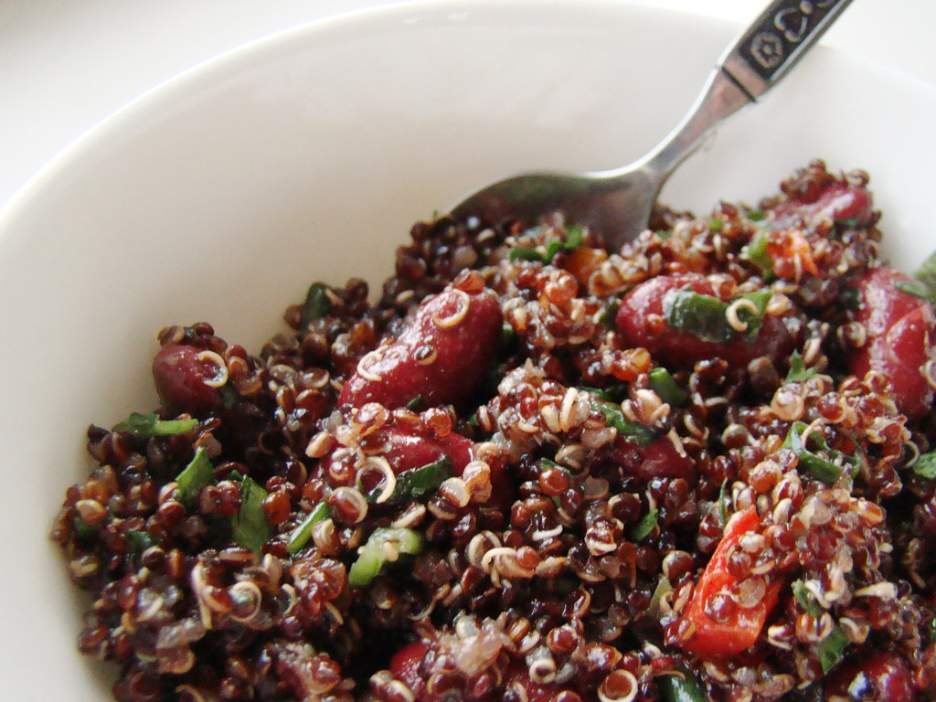 Red Quinoa Kidney Bean Salad