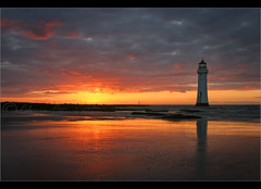 House-Light..... (Digital Diary........) Tags: sunset lighthouse seascape colour liverpool happy mood tide reward wirral newbrighton chrisconway goodlight perchrock