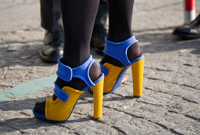 balenciaga blue and yellow shoes