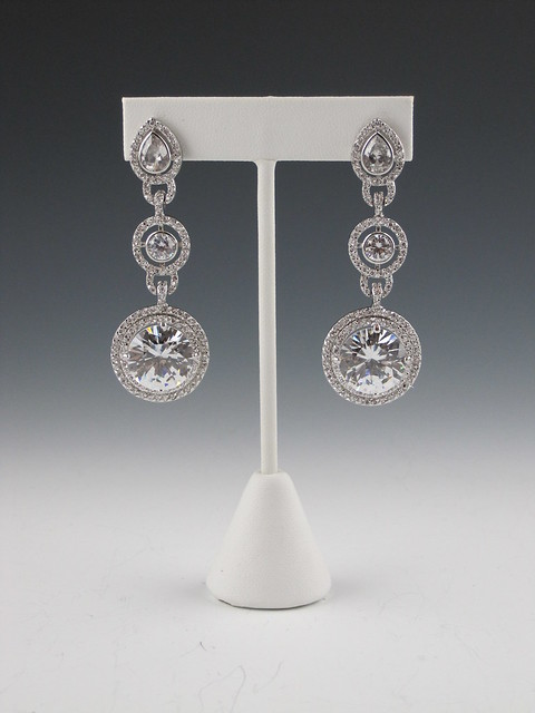 art deco bridal earrings, unique bridal earrings