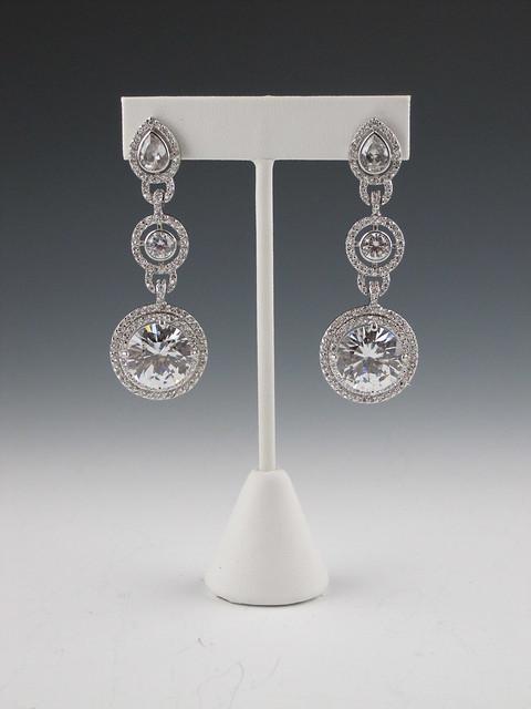 art deco bridal earrings, unique bridal earrings