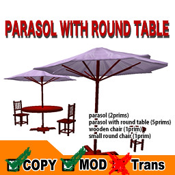 .: NADESICO :. Parasol with Round Table - lavande