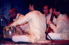 "with Maestro Ali Akbar Khansahib, Pandit Swapan Chaudhuri & James Pomerantz • <a style=""font-size:0.8em;"" href=""http://www.flickr.com/photos/35985863@N07/5816651251/"" target=""_blank"">View on Flickr</a>"