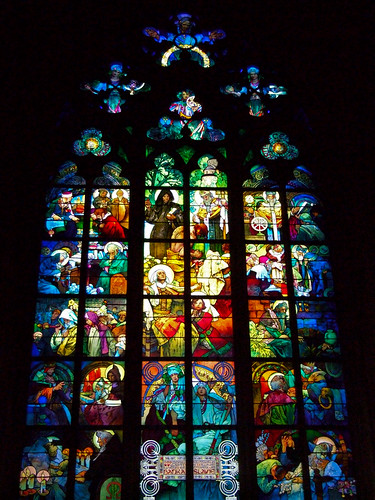 The Mucha Window, St. Vitus Cathedral, Prague