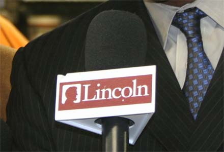 Lincoln Financial Sports Microphone Flag
