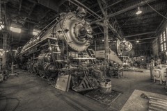 Steamlocomotives - SPS700, SP4449 (Christopher Mark Perez) Tags: gimp hdr highdynamicrange osp steamlocomotive seportland sp4449 sps700 opensourcesoftware brooklynroundhouse canon1022efs qtpfsgui canon40d