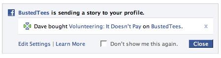 Facebook Beacon: NewsFeed Notification (2)