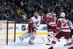 Hasek reaching out for the puck (Gosh@) Tags: hockey nhl nashville detroit hasek predators redwings nashvillepredators хоккей нхл