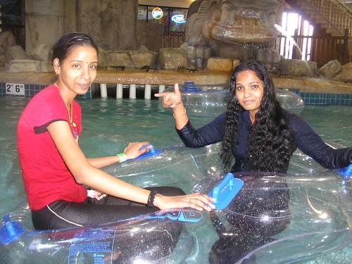 Not Desi girls water park
