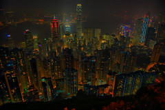 Skyline from the Peak (jazzpic) Tags: skyline night hongkong nikon 1755mmf28g d200 hdr victoriapeak 5exp mywinners abigfave msimons superbmasterpiece