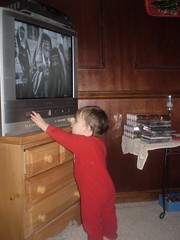 306 - Now, how can I screw up Grammy's TV? (momtodex2) Tags: dex dex365 dec365