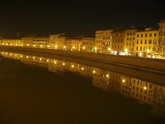 Lungarno (Teo Senbei) Tags: bridge italy night cityscape casio pisa arno exlim lungarno mywinners platinumheartaward z1200 exz1200