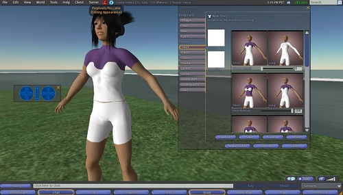 Second Life: Making Clothes: 9 - Making Shirt