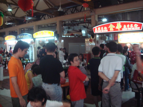 Me Queuing for the Fish Slice Bee Hoon
