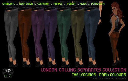 [MG fashion] London Calling Collection - The Leggings (dark colours)