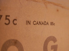 IN CANADA 85c (Mamluke) Tags: canada vintage paper typography words pattern number vogue cents nombre envelope font 1956 papel numeral papier 85 carta mots cru palabras nmero parole vendimia texte woorden eightyfive annata zahl uralt aantal mamluke ziffer incanada dresspattern wijnoogst 85ce