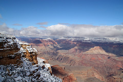 Grand Canyon, South Rim (MickiP65) Tags: travel winter vacation arizona usa snow tourism nature beautiful clouds landscape outside outdoors getaway grandcanyon az creation mostinteresting northamerica february 2008 southrim copyrighted canoneos30d michellepearson theloveshack mickip mickip65 promaster18200