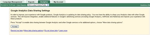 Request to share Google Analytics data