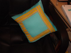 front of pillow