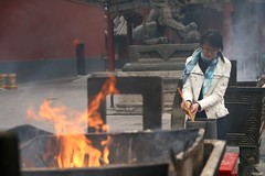 Burning incense... (Tom Spender) Tags: china temple buddhist prayer beijing buddhism burn offering chinadigitaltimes lama incense yonghegong