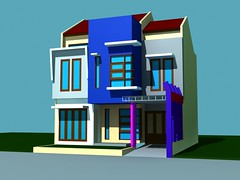 Rumah Tinggal Box Model di Villa Nusa Indah 3 by Indograha Arsitama Desain & Build