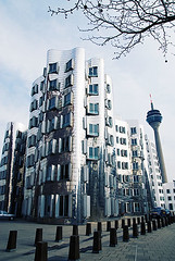 Gehry Building (fbphoto.ca) Tags: building tower architecture germany frank tv gehry dusseldorf zollhof fbphotoca