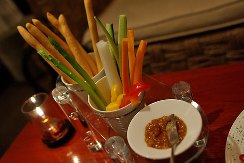 Grissini and Fresh Vege Sticks