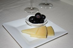 Manchengo Cheese and Black Grapes