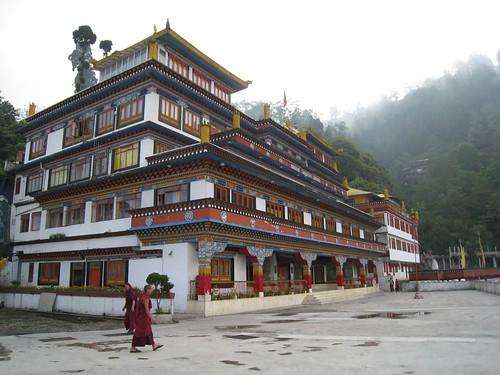 Big Tibetan Buddhist monastery