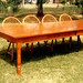 10' Cherry Dining Table and Cherry Continuous Arm Windsors