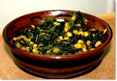 Spinach corn