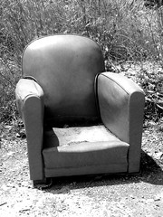 Not the Comfy Chair!! (Annie in Beziers) Tags: bw france abandoned chair armchair bziers beyondrepair annieinbziers lecanaldumidi