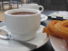 Chocolate and Churros (anthsnap!) Tags: madrid spain chocolateandchurros chocolate churro