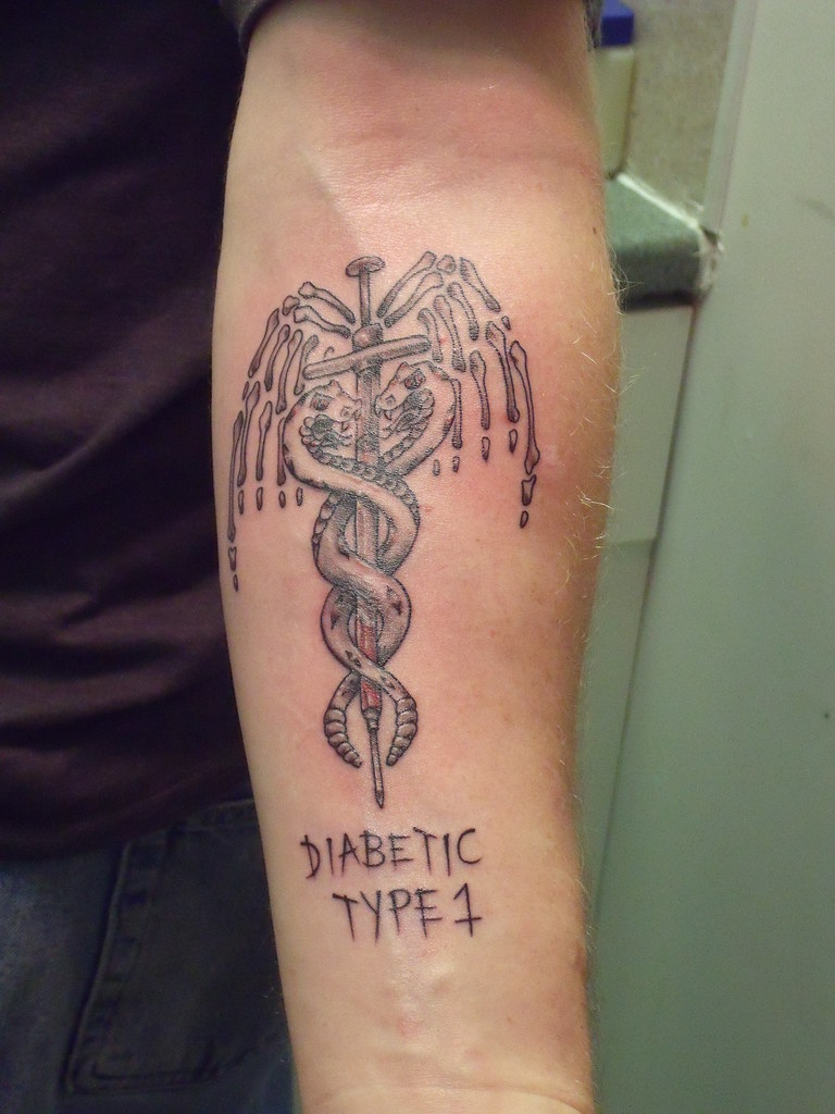The world 39 s best photos of diabetes and tattoo flickr for Pictures of diabetic tattoos
