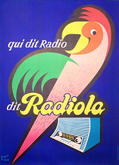 Ravo Radiola Parrot (The Galerie Fitzroy) Tags: original vintage parrot posters radiola galeriemontmartre ravo