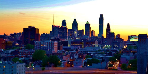 Sunsetting Over Philly 2011 by Darryl W. Moran Photography