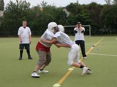 Training American Football ( Line-Spieler)