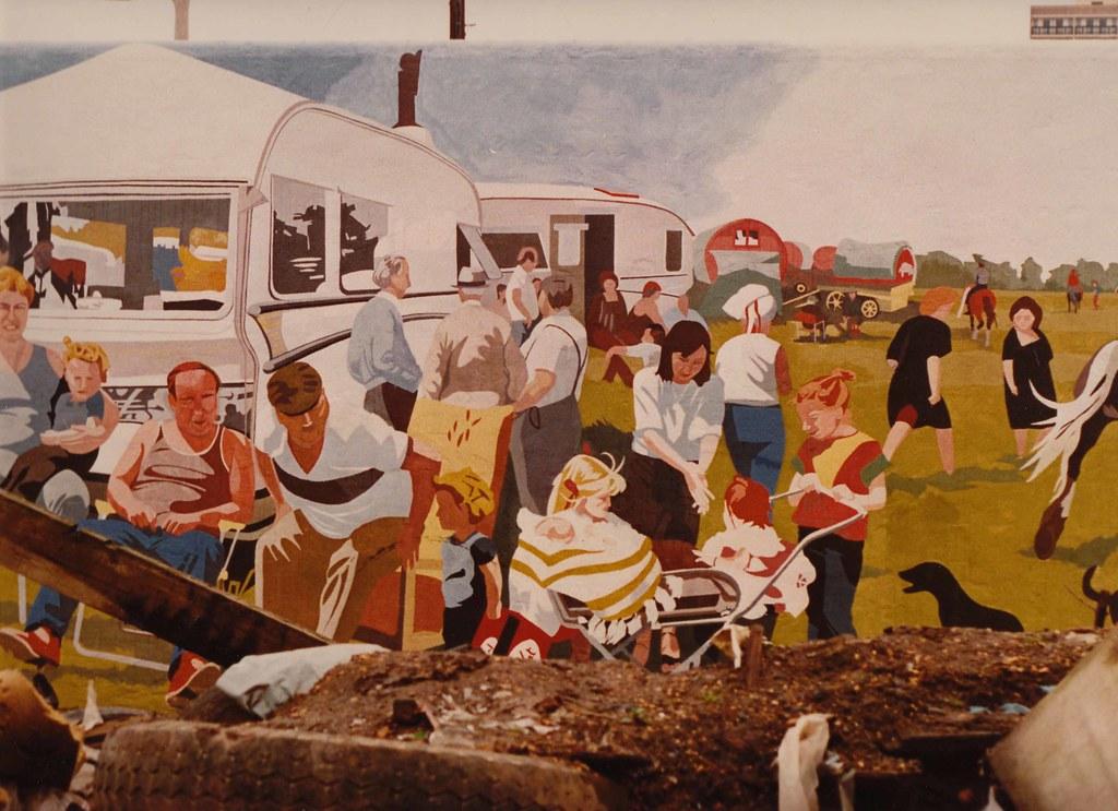 Gypsy horse fair Mural