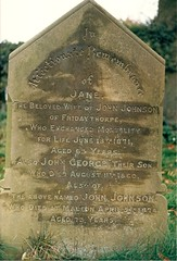 John Johnson married Jane Stillborn of Pluckam, Fridaythorpe