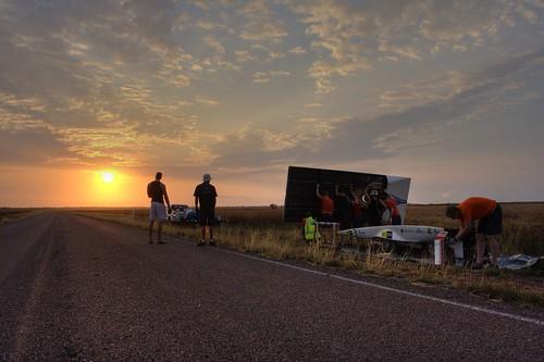 Statisch laden bij zonsopkomst