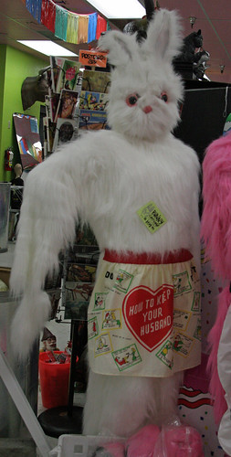 So, if I understand correctly, in order to keep your husband you dress up in a furry rabbit suit.  Seems simple enough.