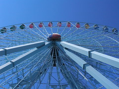 The blue Texas Star (JoWiJo) Tags: dallas ride bluesky fair ferriswheel texasstatefair statefairoftexas fairpark texasstar somethingblueinmylife top20texas