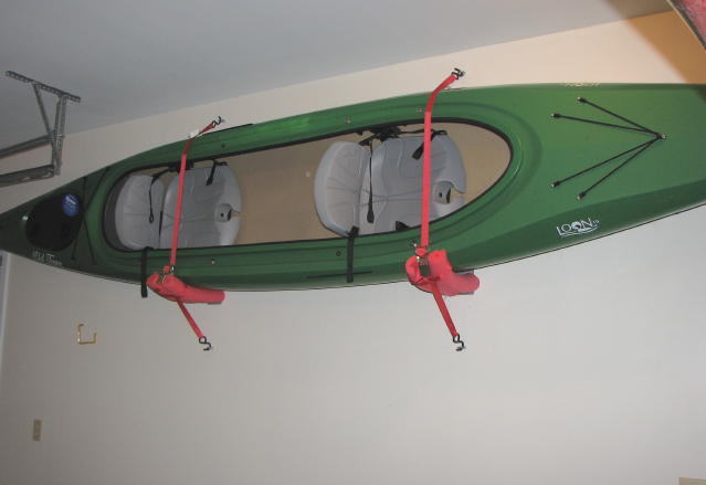My Empty Nest: We FINALLY got the kayak off the garage floor on hot tub in garage, shop in garage, helicopter in garage, atv in garage, surfing in garage, boxing in garage, walk in garage, love in garage, limo in garage, car in garage, parking in garage, archery in garage, plane in garage, kayak lifts for garage, wrestling in garage, run in garage, kayak holder garage, pulley system for garage, shooting in garage, boat in garage,