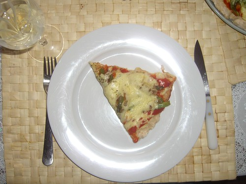 Mmmm!!  Turkey pizza!