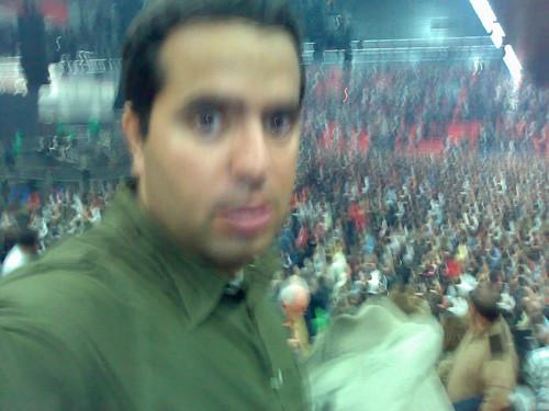 Nacho al terminar el concierto de Bilbao