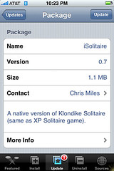 iSolitaire Update 0.7