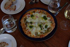 eggplant & pepper pizza